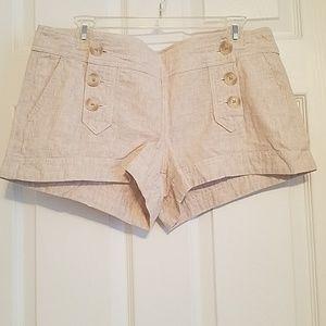 Express khaki-colored shorts